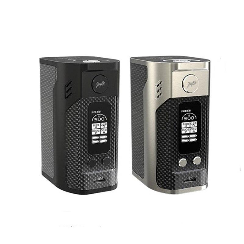 Original Wismec Reuleaux RX300 Box Mod Carbon Fiber 300W TC Mod Powered By Four 18650 Batteries Electronic Cigarette Wismec Mod
