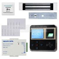 DIYKIT Отпечатков Пальцев 125 КГц ID Кард Ридер 180 кг Магнитный Замок Двери Система Контроля Доступа Комплект
