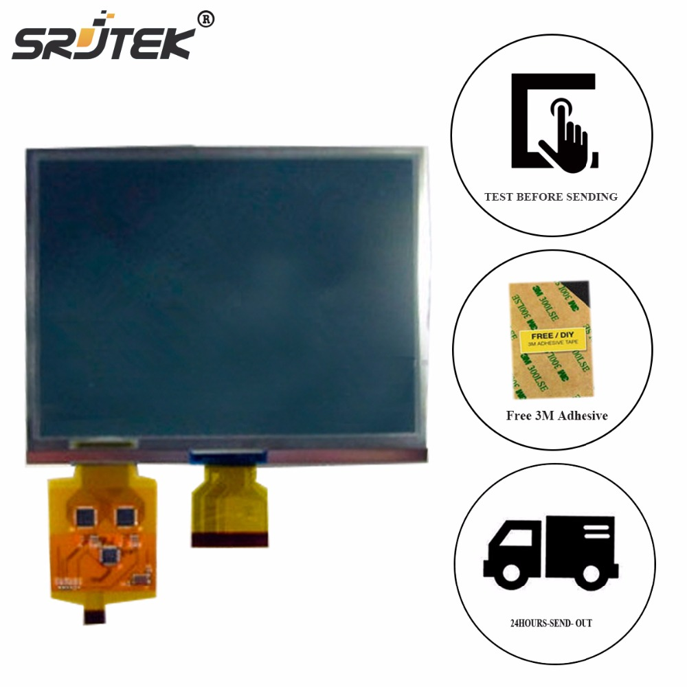 Srjtek 6 inch E ink LCD Screen For AUO A0608E02 LCD Display Screen With Touch Screen