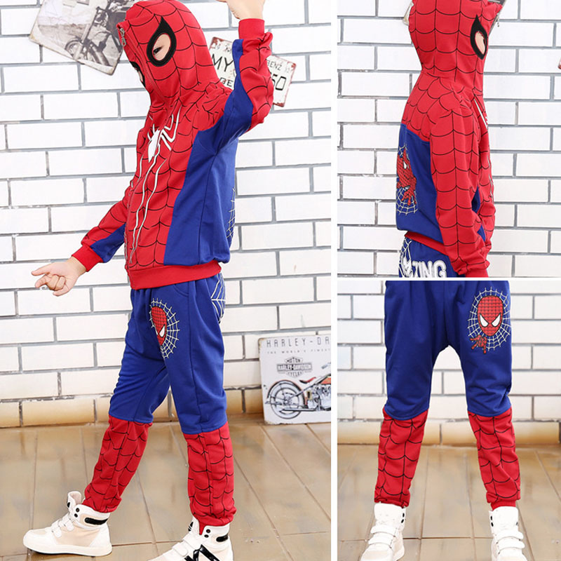 Children Clothing Autumn Winter Toddler Boys Clothes Sets Spiderman Costume Kids Clothes For Boys Clothing Suit 3 4 5 6 7 Year 29