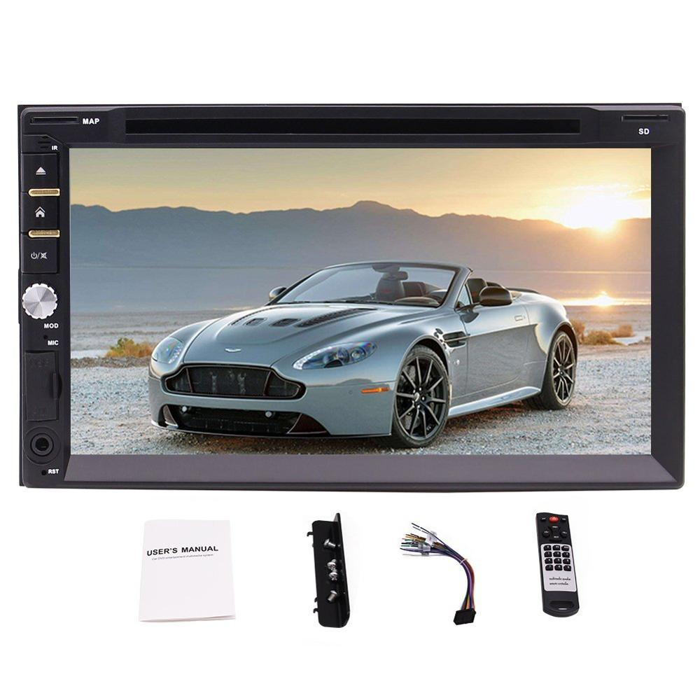 Double Din Eincar Car Stereo 7 Inch Capacitive Touchscreen Car DVD Player in Dash Head Unit Stereo support Bluetooth FM Radio t11 fm transmitter wireless in car bluetooth receiver stereo radio adapter car kit