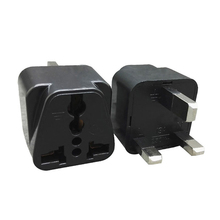 UK Plug White/Black  To EU Adapter 13A Universal 250V US AC Power Socket Charger Adaptor China Converter 5PCS