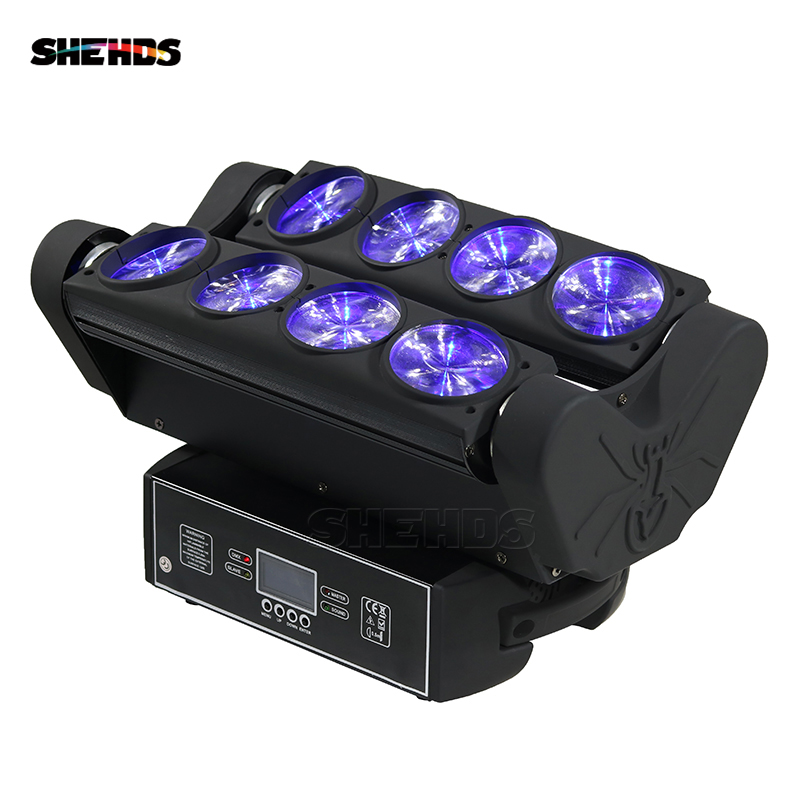 RGBW 4in1 8x10W Spider Moving Head Stage Effect Light LED Beam DMX512 For Professional Party Disco DJ And Christmas Decorations cree rgbw 4in1 dmx led moving head spider light 8 eyes beam light stage light christmas dj disco party light