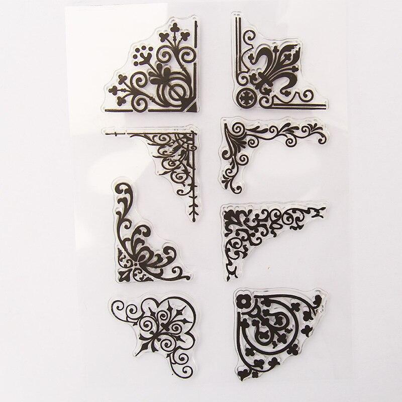 Vintage Plant Vines Transparent Silicone Clear Stamp For Scrapbooking DIY Craft Decoration Soft Stamp Kids Stationery