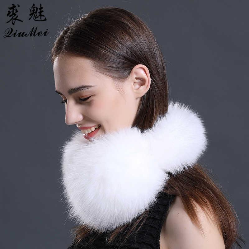 0959d8d18c150 ... Real Fox Fur Earmuffs for Winter Women Warm Natural Raccoon Fur Earmuffs  Girl s Ear Warmer Genuine ...