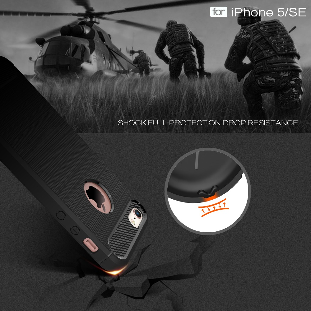 Ծածկոցներ iphone 5s- ի համար 6 6s 6s 7 Plus - Բջջային հեռախոսի պարագաներ և պահեստամասեր - Լուսանկար 5