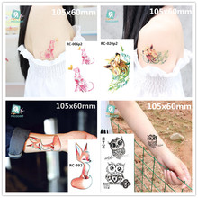 3D Butterfly Body Art Waterproof Temporary Tattoos For Men women Sexy Colours Small Sticker Wholesale RC2206