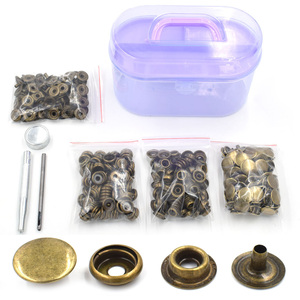 Image 1 - 100 sets /lot Metal snap tool fastener buttons Rivet T8 T5 T3 snaps jacket buttons Clothing & Accessories. Sewing repair snaps