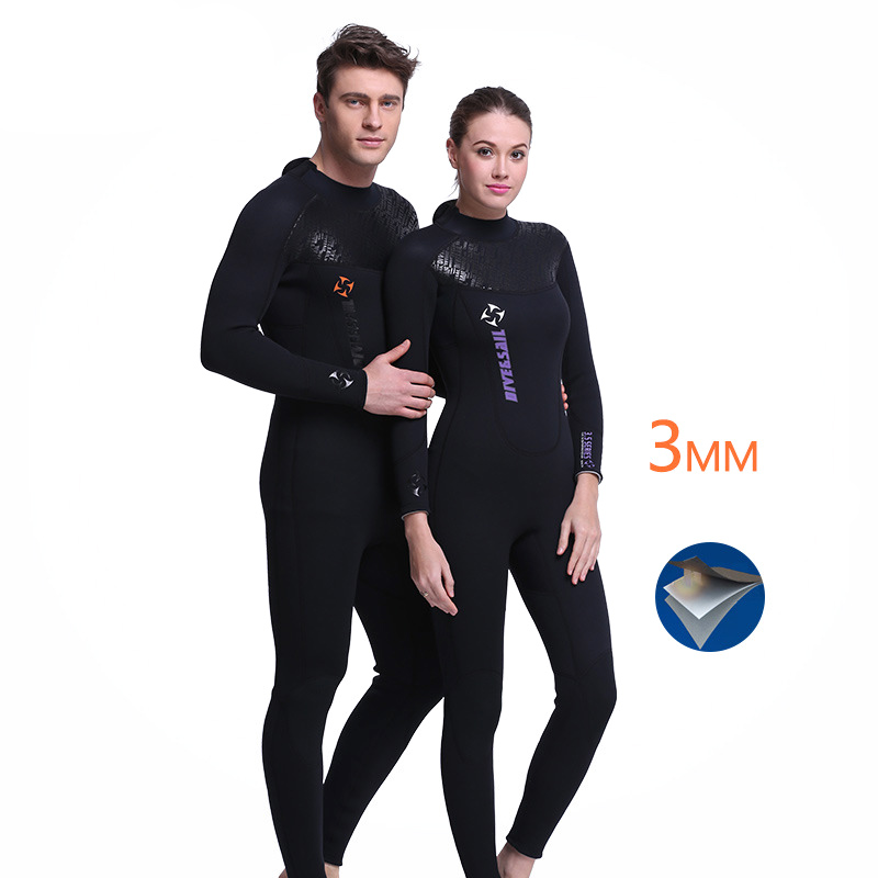 3MM Neoprene Diving Wetsuits Men Women Diving Suit One Piece Long Sleeve Full Bodysuit Swimwear Spearfishing Surf Scuba Swimsuit цена