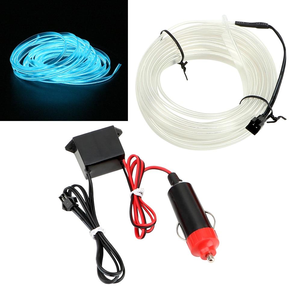 FORAUTO 5 Meters Car Interior Lighting Auto LED Strip EL Wire Rope Auto Atmosphere Decorative Lamp Flexible Neon Light DIY
