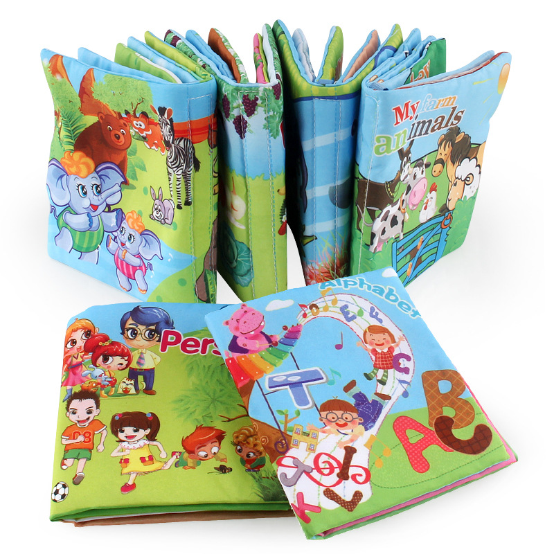 High Quality Baby Cartoon Cloth Book Newborn Early Educational Games Toy 0-24 Month Christmas Birthday Gifts For Kids Children