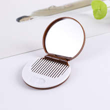 1PC New Mini Makeup Mirror Hand Held Fold Small Portable Cartoon Chocolate Biscuit Super Cute Compact Pocket Mirror Beauty(China)