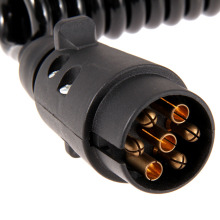 7-pin 12V, 24V Copper Trailer Spring Cable