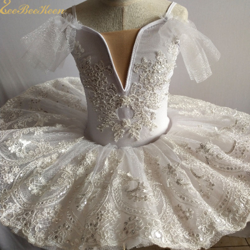 Women Ballet professional Ballet Tutu Dress Swan Lake Delicate lace Dress Girls Bailarina Stage Performance Costume For Kids