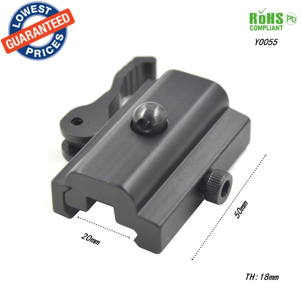 AloneFire Y0055 QD Quick Detach Cam Lock Bipod Sling Adapter Mount for Picatinny Weaver Rail 20mm