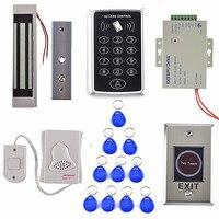 Single Door Access Control System Kit Set RFID Keypad Drop Bolt Door Lock Power Supply Stainless
