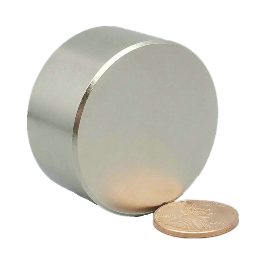 1 piece On Sale NdFeB Disc Magnet about Diameter 38.1x19.05 mm 1.5 strong Neodymium Permanent Magnets Grade N45 NiCuNi 2pcs mounting magnetic disc diameter 88 mm led light holding spotlight holder male thread ndfeb magnet strong neodymium magnet