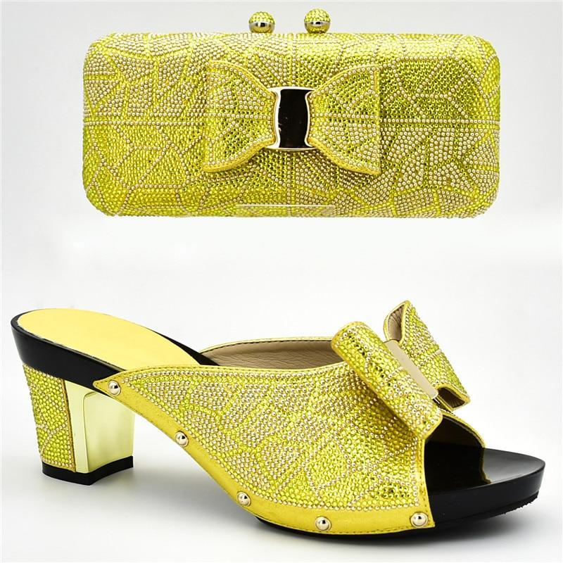 Negro Fiesta oro De Nigerianos Bolsos amarillo Imitación Africanos Diamantes Italianos Y A púrpura Últimos Mujer Elegantes Zapatos Para Juego Decorados plata Con azul nHgTqw00p