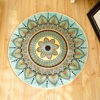 WINLIFE Bohemia Style Mandala Design Abstract Design Rugs Living Room Carpet