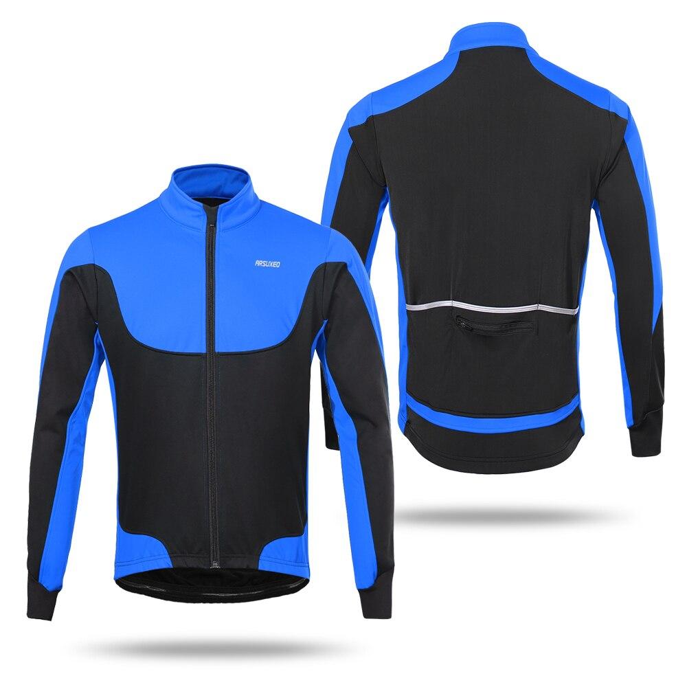 29dd7b7d633 Arsuxeo S-2XL Winter Men s Cycling Jacket 4 Colors Windproof Waterproof  Thermal Fleece Lined Coat Outdoor Sport Long Sleeve Coat