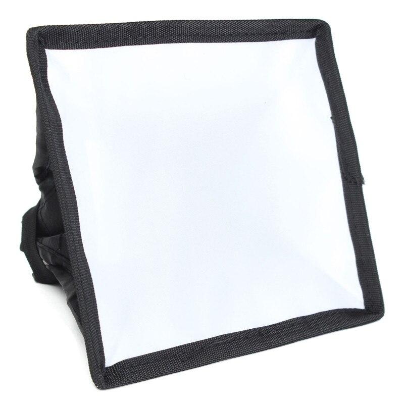 15 см х 17 см Универсальный Складной Софтбокс Рассеиватель Для DSLR Камеры Фотография Фото Вспышка Света Вспышки Speedlite Черный