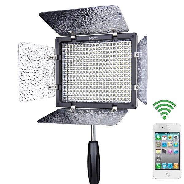 ФОТО YONGNUO YN300 III YN-300 III CRI95 3200K-5500K LED Video Light with Barndoor led Panel for Cameras Canon Sony Nikon Olympus