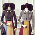 2016 Limited Completa Unicornio Tops Blusa 2017 Nueva Primavera Plisado Línea Brillante Empate Camisa de Las Mujeres Delgadas de Tocar Fondo de manga larga T-shirt