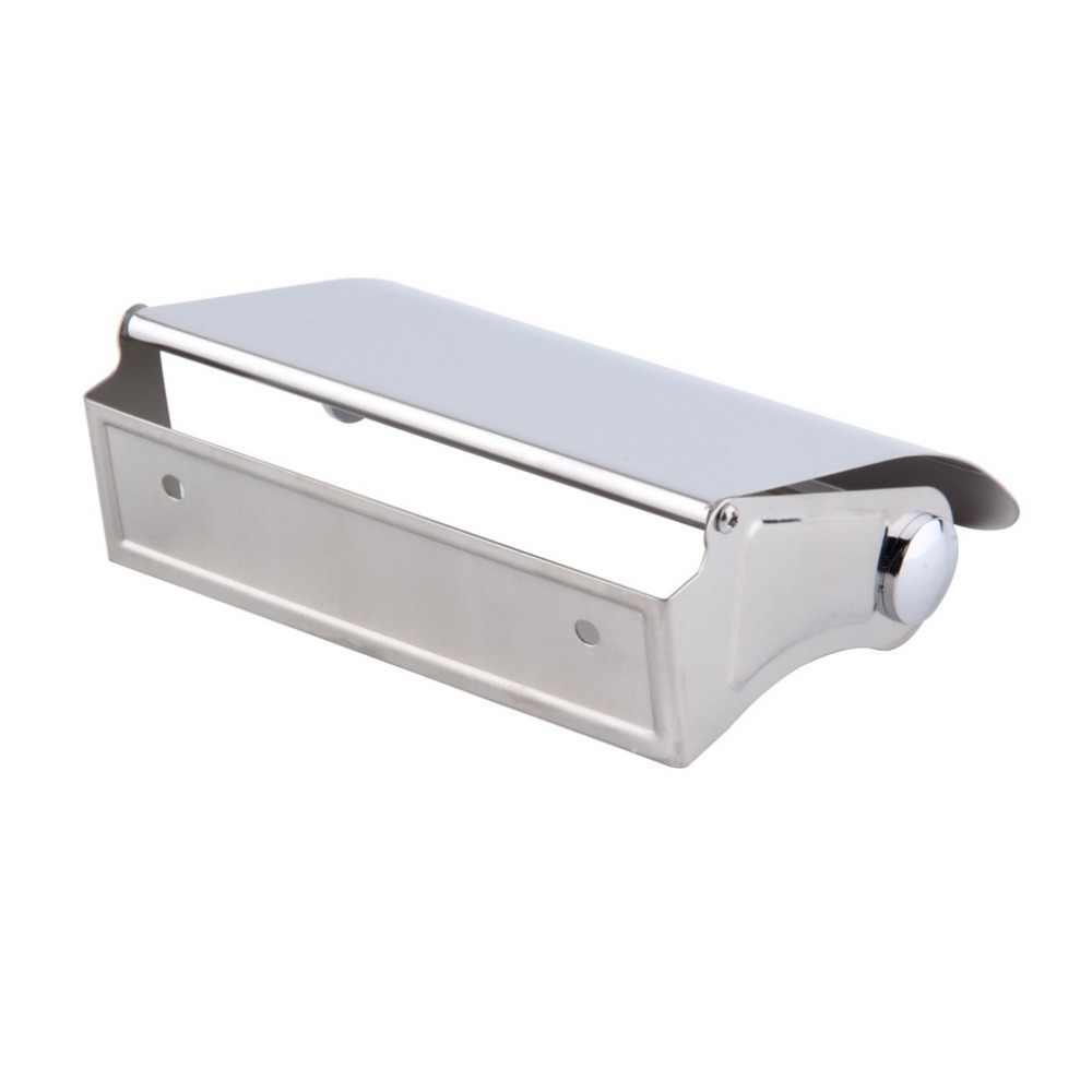 Niesamowite trwałe akcesoria łazienkowe wc ze stali nierdzewnej uchwyt na papier pudełko na chusteczki uchwyt na papier Box