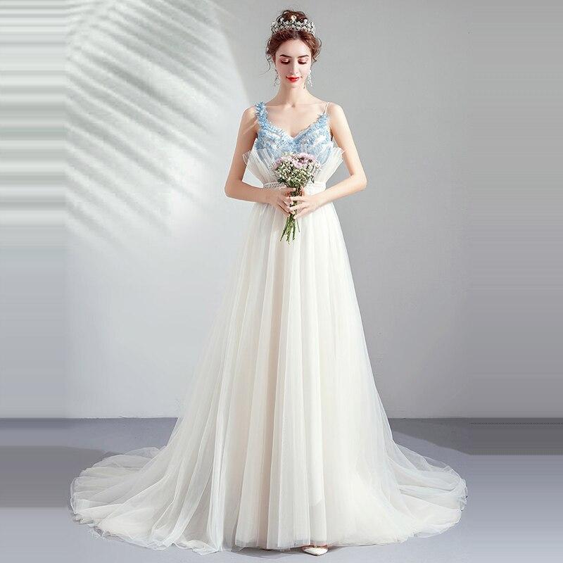 Evening Dresses White Floor Length Robe De Soiree Sexy V-neck Women Party Dress 2019 Long Plus Size Sleeveless Prom Dress E600