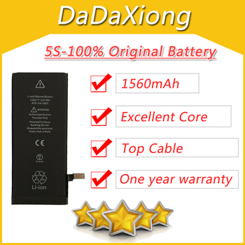 10pcs/lot Excellent 1560mAh Core Protection board 3.7V Zero cyclic Battery for iPhone 5S 5GS replacement repair parts 5S-AAA