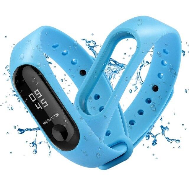 fb46ffea8bdb € 0.71 20% de DESCUENTO Pulsera inteligente de silicona de Color azul para  Xiaomi mi Band 2 Correa de repuesto Smartband banda de reloj inteligente ...