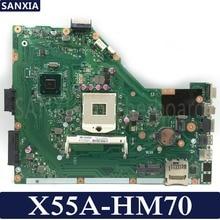 Kefu X55A материнская плата для ноутбука ASUS X55A X55U Тесты Оригинал материнская плата HM70