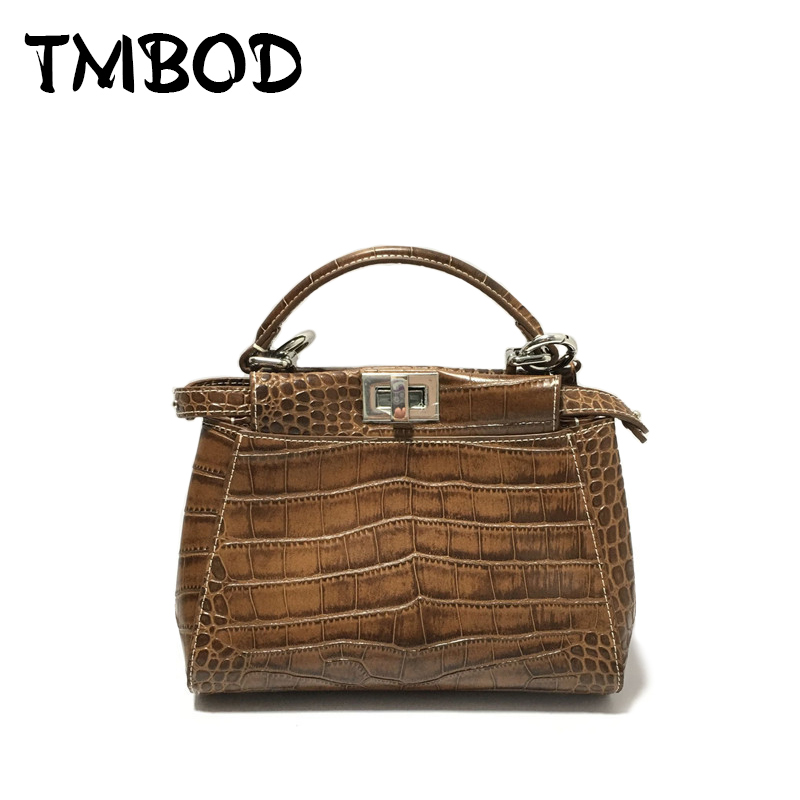 все цены на NEW 2018 Classic Small Alligator Tote Crossbody Bag For Female Women Split Leather Handbags Lady Elegant Messenger Bags an982