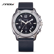 SINOBI Sports Chronograph Men s Calendar Quartz Wrist Watches Top Luxury Brand Male Geneva Quartz Clock