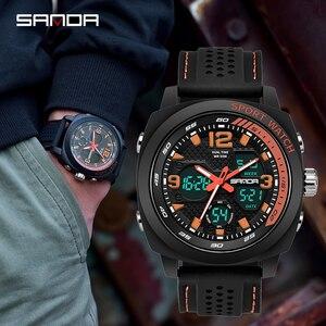 Image 2 - SANDA degli uomini di marca di sport di modo della vigilanza del LED degli uomini impermeabile orologio digitale G casuale di vibrazione orologio militare Relogio Masculino
