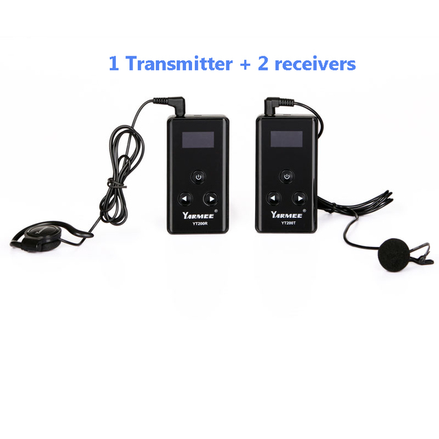 YARMEE YT200 Whisper Tour Guide System Sample For Factory Tours And Translation Device ( 1 T And 2 R )