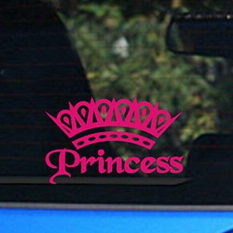 Crown Princess Vinyl Sticker For Elegant Lady/ Baby Girls Car Decor