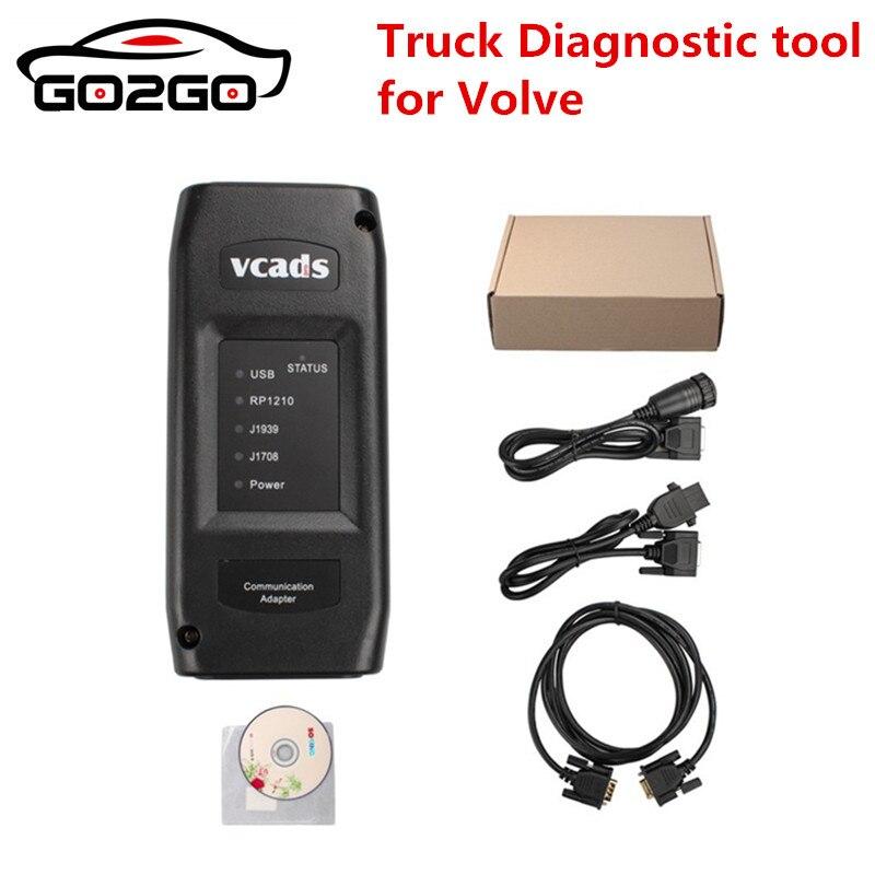 Vendita calda VCADS Pro 2.40 per Volvo Truck Strumento Diagnostico Con Multi Lingue