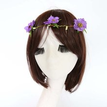Women Fashion Flower Headband Head Piece Hair Band Hair Headdress Hairband Decor Peach Blossom nz17