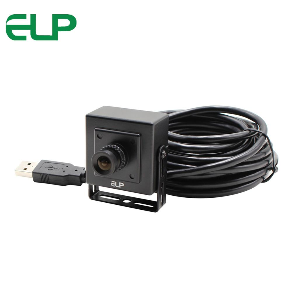 bilder für 1,0 megapixel 1280x720 6mm objektiv Ominivision CMOS OV9712 schwarz und weiß metallgehäuse usb mini videoüberwachung kamera modul