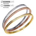 Super Sell Platinum Plated Bangles for women AAA Cubic Zirconia Luxury Jewelry Allergy Free Cadmium Free