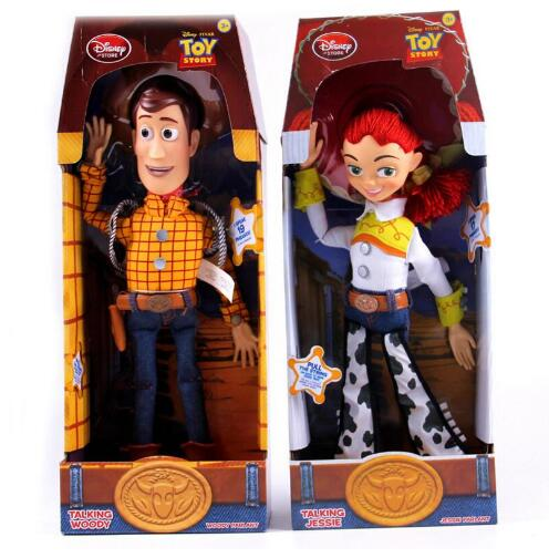 Toy Story 3 Talking Sheriff Woody Talking Jessie Doll Figurine Toy Story Action Figure Speaking Woody Jessie Christmas Kid Toy сумка jessie