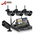 """Nuevo plug & play inalámbrico de $ number canales sistema de vigilancia de la cámara anran 7 """"LCD Kit NVR 1 TB HDD P2P 720 P HD IR Al Aire Libre WIFI CCTV Cámara IP"""