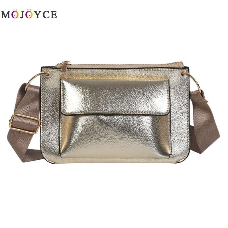 2018 Ladies Bling PU Leather Women Wide Belt Shoulder Bags Pure Crossbody Messenger Bags Ladies Handbag Bolsa Feminina contrast pu wide belt