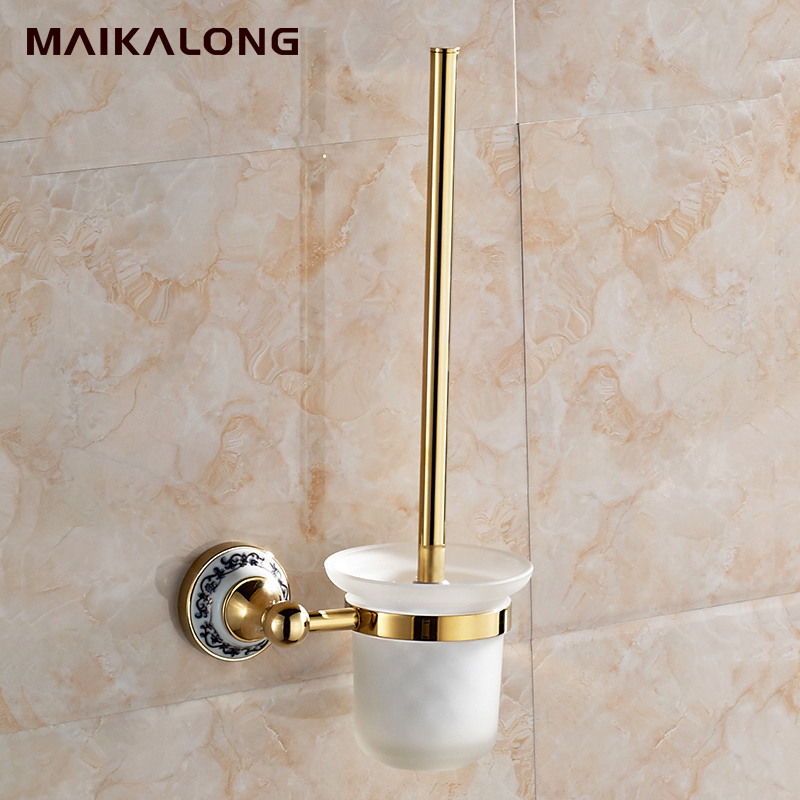 Toilet Brush Holder,Solid Brass Construction Base Chrome