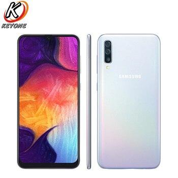 Перейти на Алиэкспресс и купить Абсолютно Новый Samsung Galaxy A50 A505F-DS LTE мобильный телефон 6,4 дюйма 4/6 ГБ ОЗУ 128 Гб ПЗУ Exynos 9610 Восьмиядерный Android 9,0 Dual SIM телефон