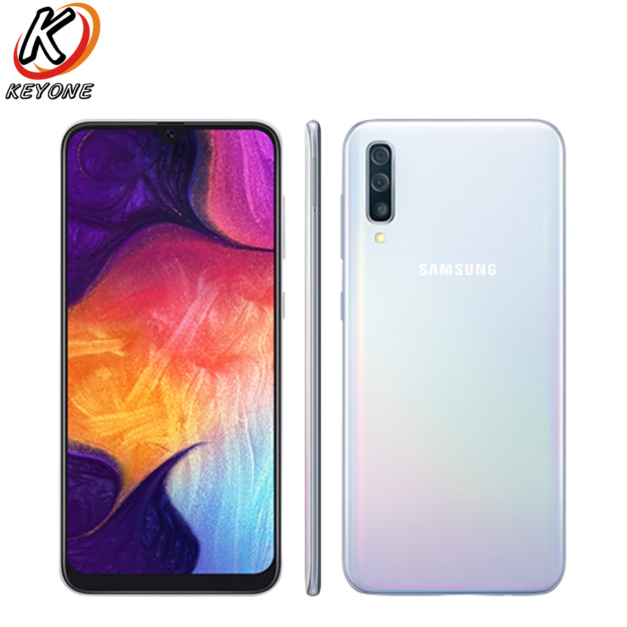 """Brand New Samsung Galaxy A50 A505F-DS LTE Mobile Phone 6.4"""" 4GB RAM 128GB ROM Exynos 9610 Octa Core Android 9.0 Dual SIM Phone"""
