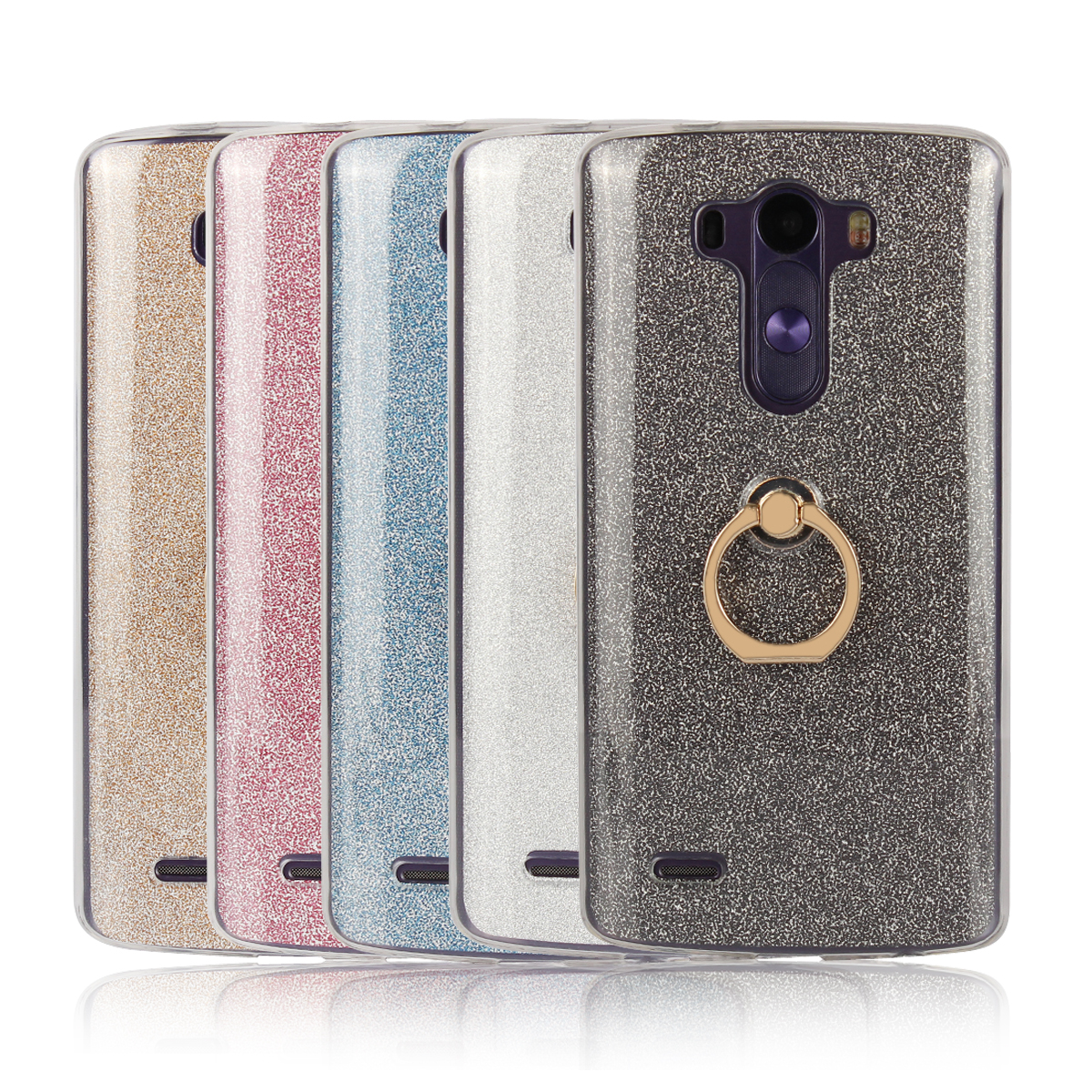 US $4 5 9% OFF|Case for LG G3 Flash powder Case for LG G3 D855 D850 D851  D852 AS990 US990 D859 VS985 D858HK D856 Finger buckle Soft shell cover-in