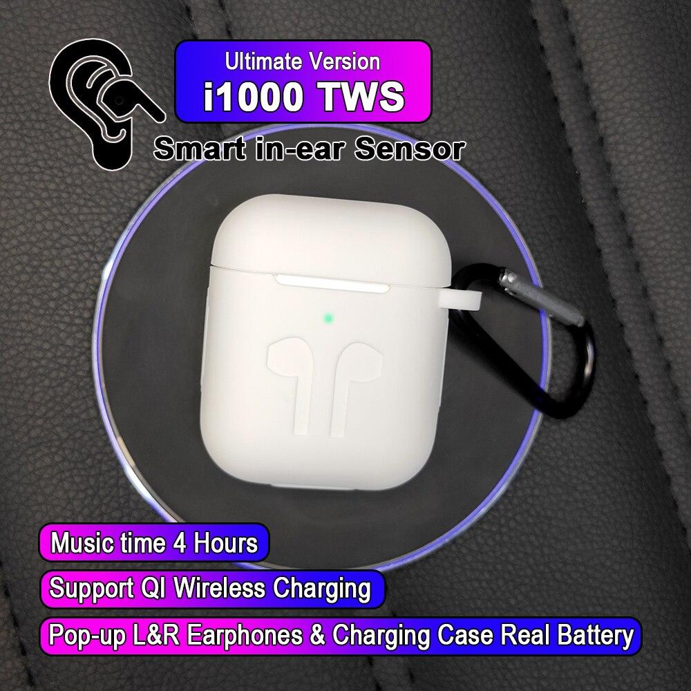 I1000 TWS Arie 2 réplique 1:1 contrôle intra-auriculaire fonction écouteur sans fil 6D Super basse pk w1 h1 puce i100 i300 i60 i200 i500 i800 tws