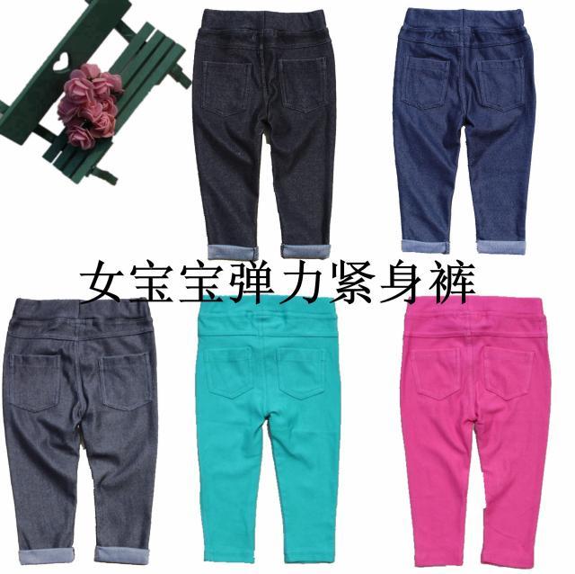 Baby Mädchen Imitation Jeans Leggings Und Strumpfhosen Hosen Weibliche Baby Süßigkeitfarben Strumpfhosen Hosen Säugling Mädchen Freizeithosen Kunden Zuerst
